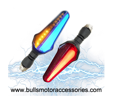 Bulls Motor Dual color Motorcycle scooter bike led turning signal lamp 12v