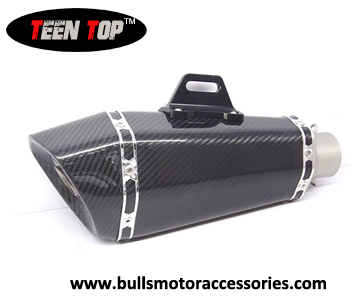 BM031CC  Hot sale Cone Carbon fiber motorcycle exhaust muffler for