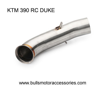 KTM RC390 DUKE 390 STREET bike exhaust middle link pipe slip-on exhaust 2018 2019