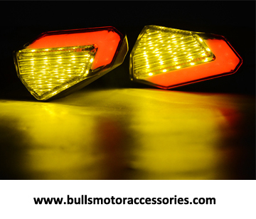 BM-L005 Factory direct motorcycle LED turn signal two-color turn light smoke lens