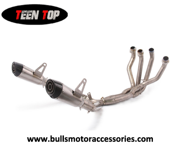High performance titanium alloy racing exhaust system for Kawasaki  2018 2019 Year twin exhaust