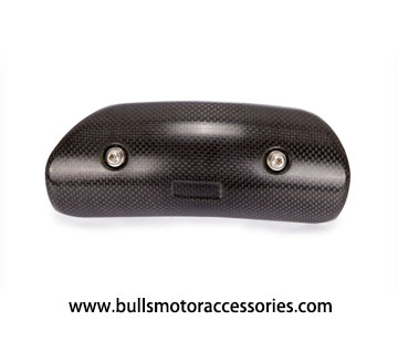 BM-H015 Type A Carbon fiber heat shield for motorcycle link pipe