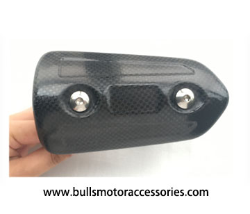 BM-H015 Type B motorcycle exhaust used carbon fiber heat shield