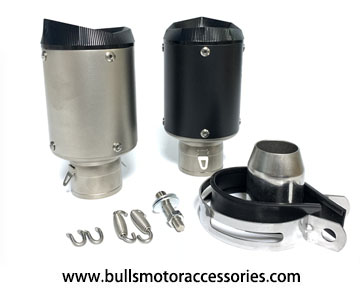 BM055SS 51mm or 60.5mm universal motorcycle muffler GP moto exhaust silencer